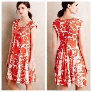Anthropologie Maeve Larkhill Swing Floral Dress